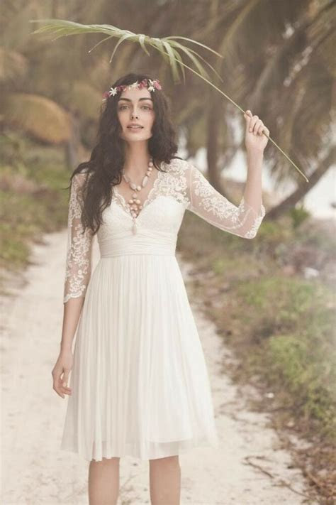 beautiful  lace chiffon white short summer beach