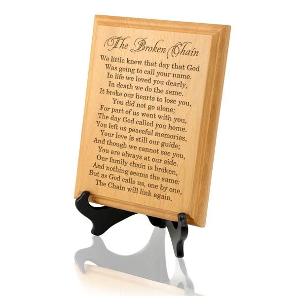 The Broken Chain Poem Gifts The Broken Chain Poem Gifts Memorial