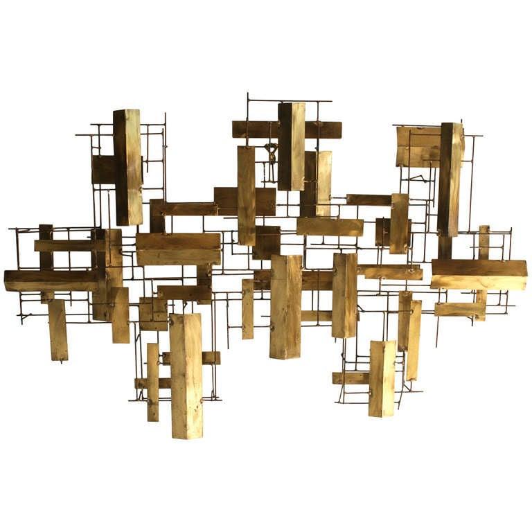 Abstract Metal Wall Sculpture at 1stdibs