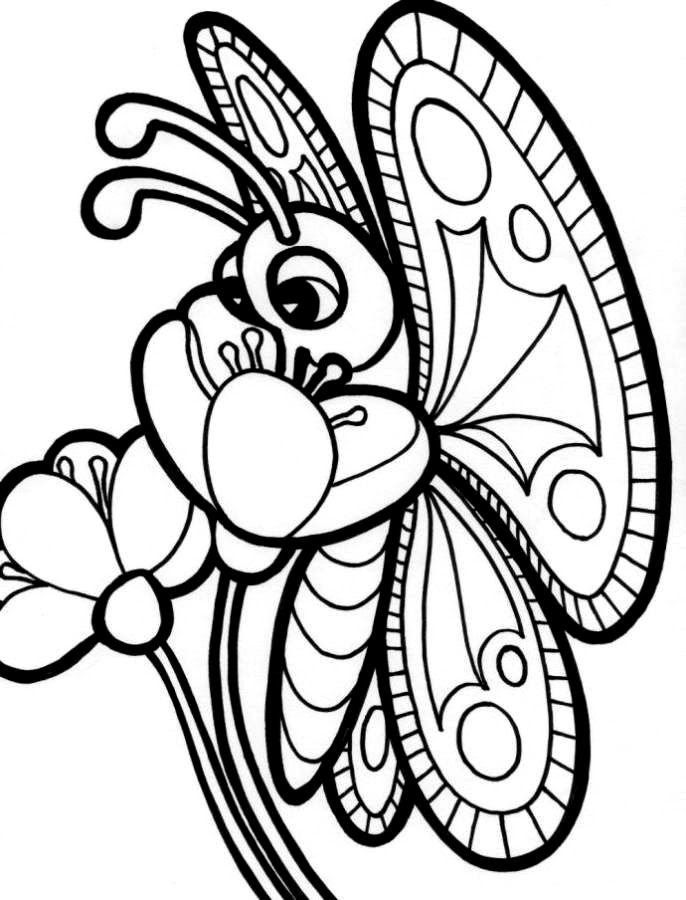 Free Free Coloring Pages Flowers And Butterflies Download Free Clip Art Free Clip Art On Clipart Library
