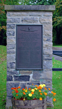 Bennington Battlefield Gate Marker - left.