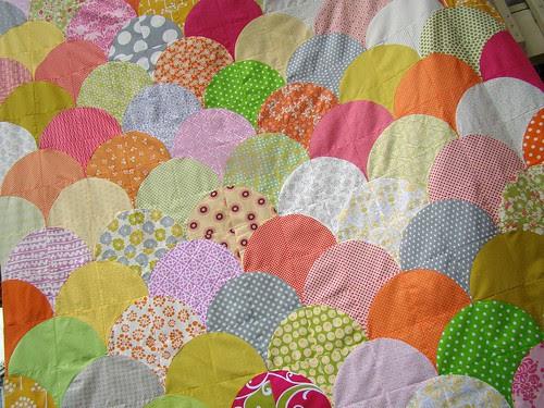 scallop quilt top