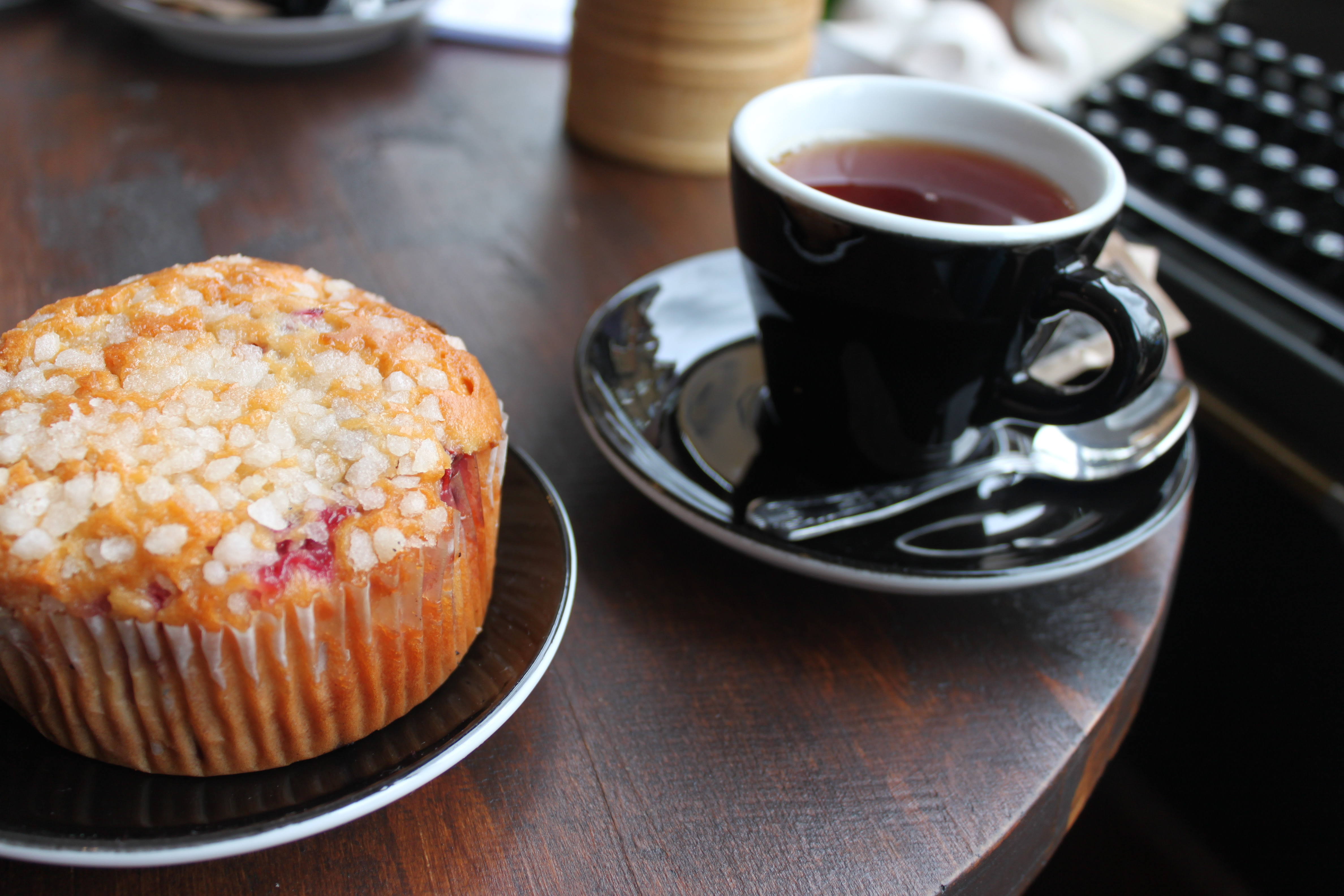 Muffin and tea (: