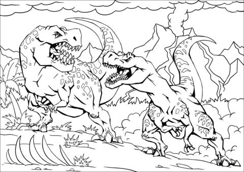 ausmalbilder dinosaurier indominus rex - malvorlagen