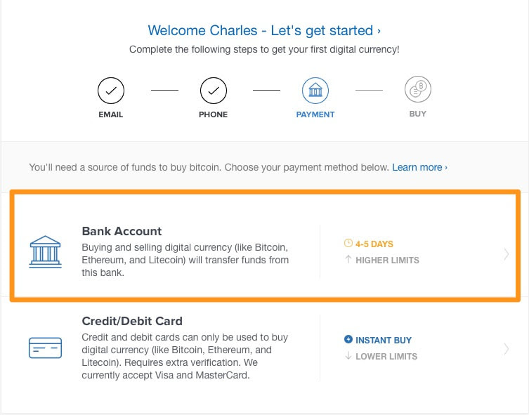 Coinbase Add Ach Where Can I Buy Bitcoin Online With Credit Card Az Trans