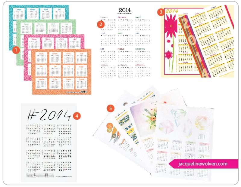 2014 Calendar Roundup