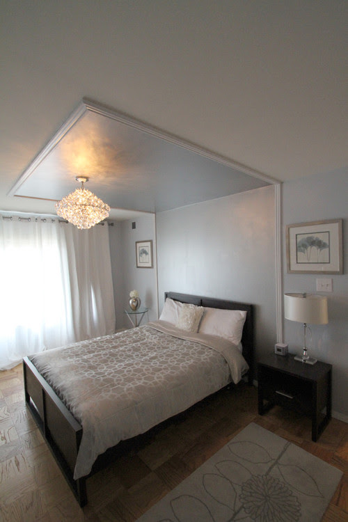 Silver themed bedroom eclectic bedroom