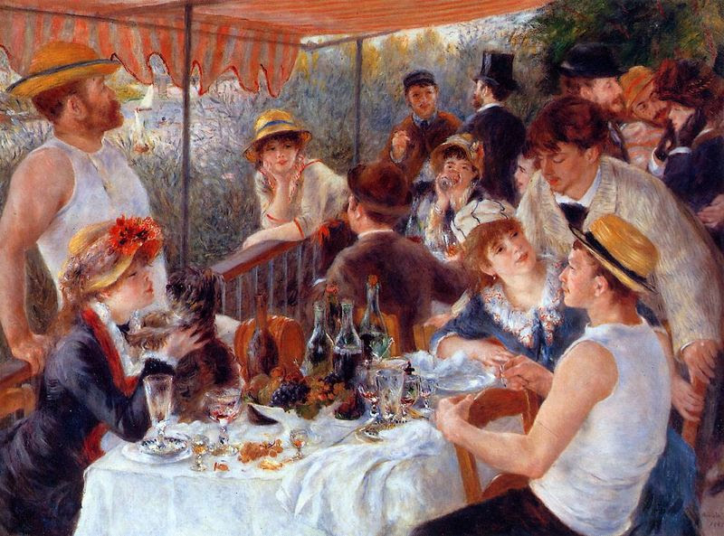 Luncheon of the Boating Party por Pierre Auguste Renoir