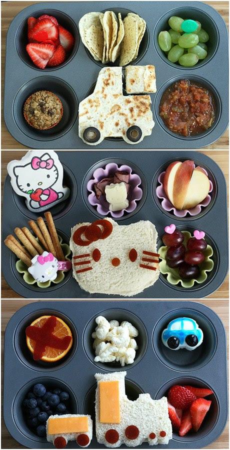 Presentar la comida de forma divertida, recetas para niños, recetas divertidas para niños