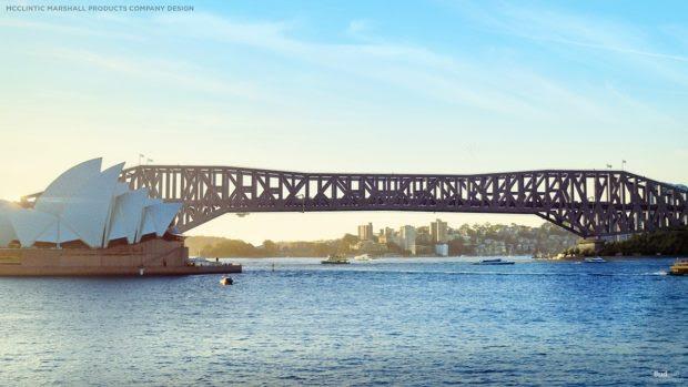 How Australia's famous Sydney Harbour Bridge might have looked