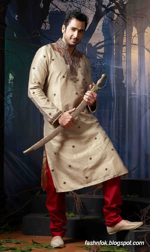Kurta-Designs-Men-Male-New-Latest Silk-Kurta-Style-Design-8