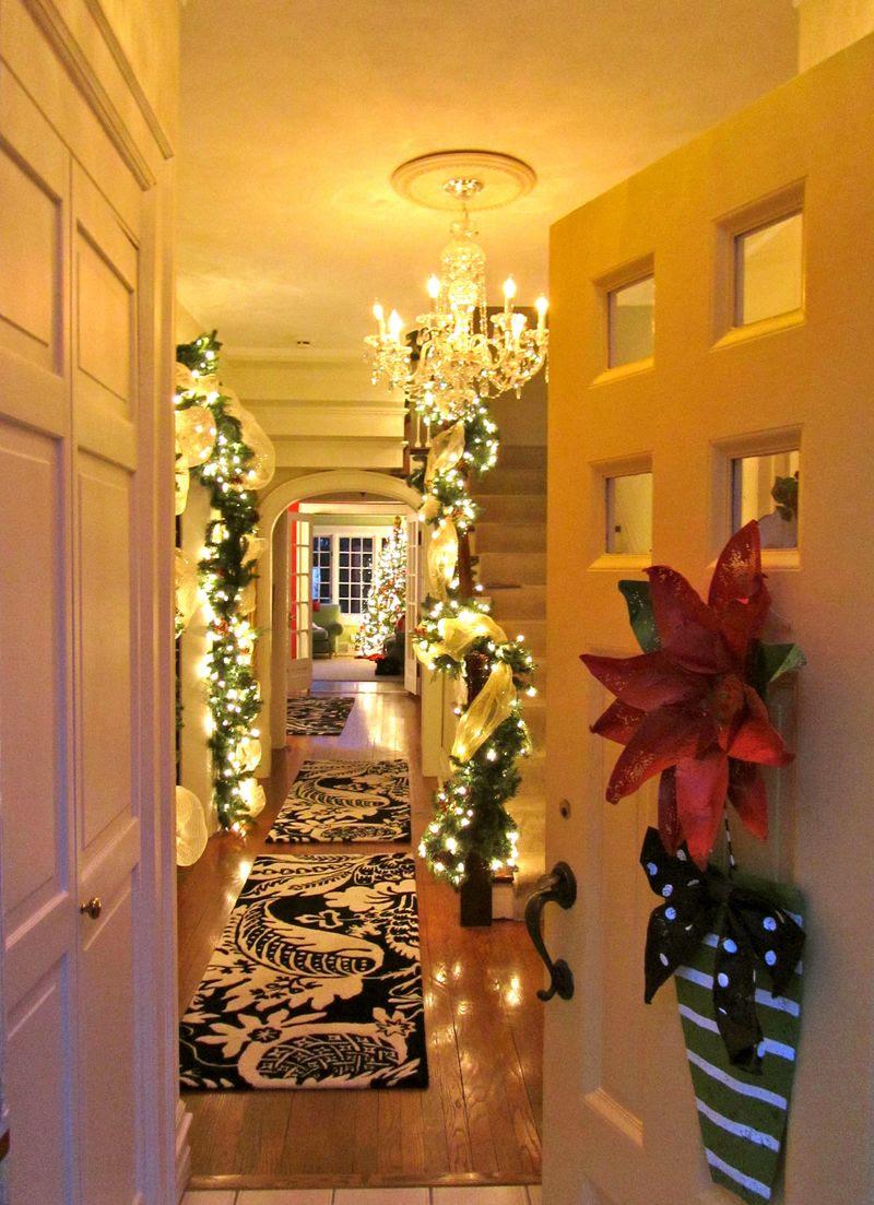 christmas holiday entrance decor cozy