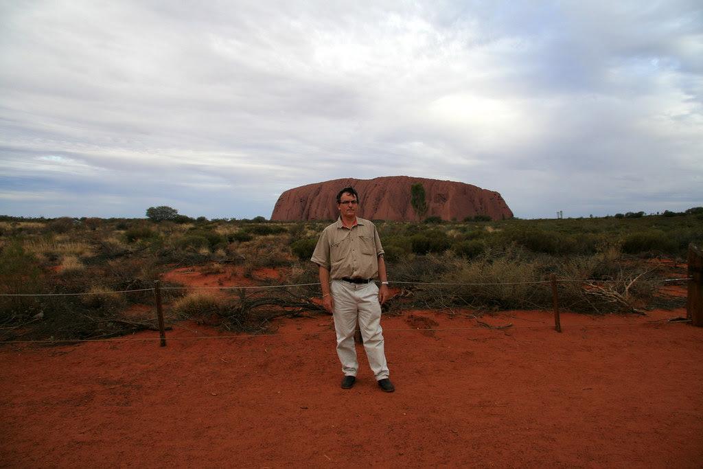Stephen at Uluru