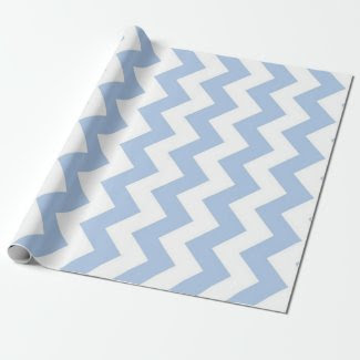 Light Blue and White Zigzag Wrapping Paper