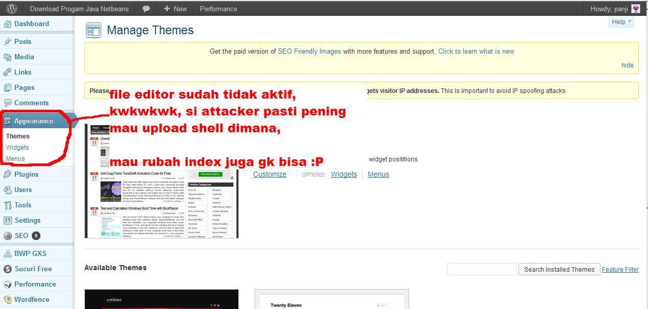 Amankan Website Wordpressmu Dari Hacker Aka Lamers [ Tutorial 1 ]