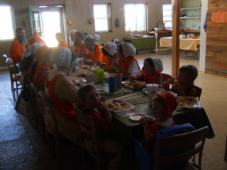 Another of The Group Eating the Meal