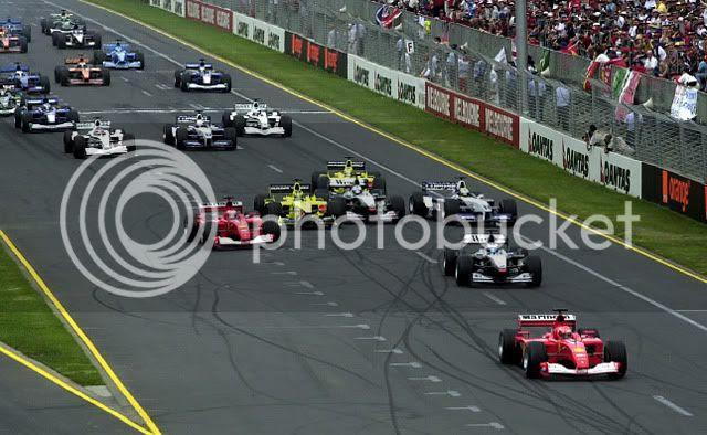 Salida del GP de Australia 2001
