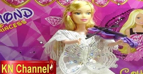 Đồ chơi trẻ em Bé Na Búp bê Công chúa Kim Cương Diamond Princess doll & Violon Childrens toys