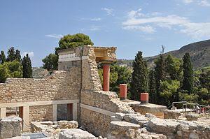 Vista do sítio arqueológico de Cnossos