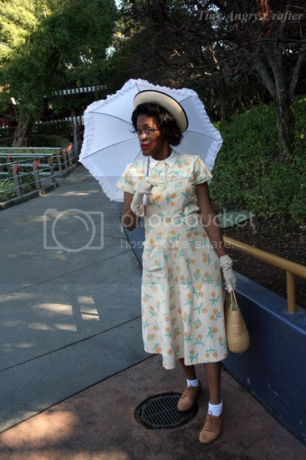 TinyAngryCrafts 1950's dress, Disneyland