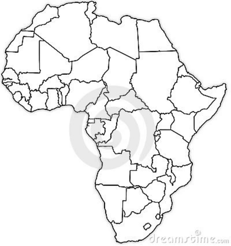 Africa Political Map Blank | Earth Map