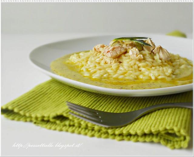Risotto con crema di pistacchi e pecorino