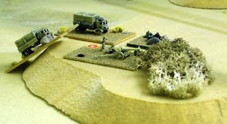 German Flanking Force Anti Tank Gun and MG deployed