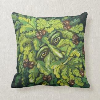 Green Man Pillow