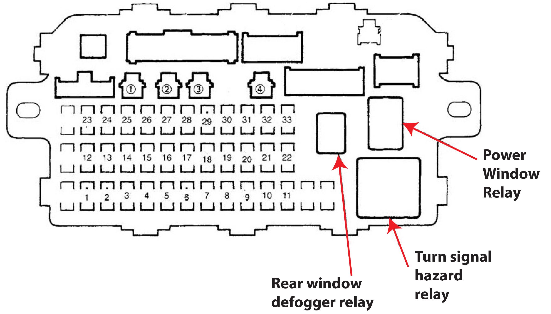 2005 Honda Odyssey Relay Diagram