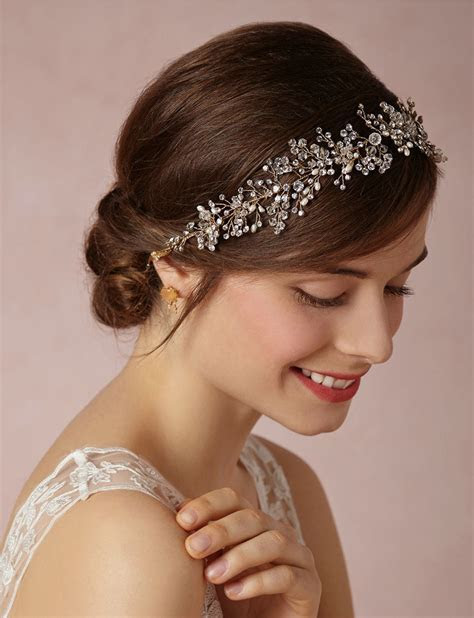 Buy Wholesale Luxury Beaded Crystal Hair Vine Pearl Gold