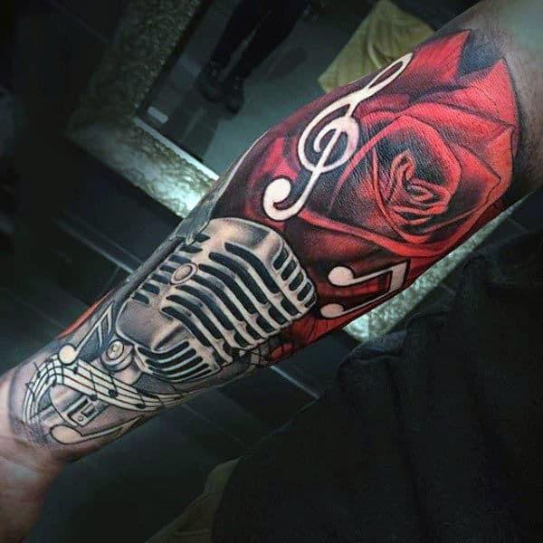 60 Music Sleeve Tattoos For Men Lyrical Ink Design Ideas