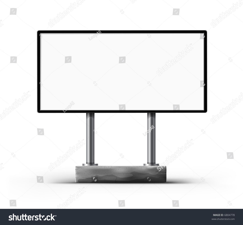 Blank Street Billboard Template Outdoor Advertisement Stock ...