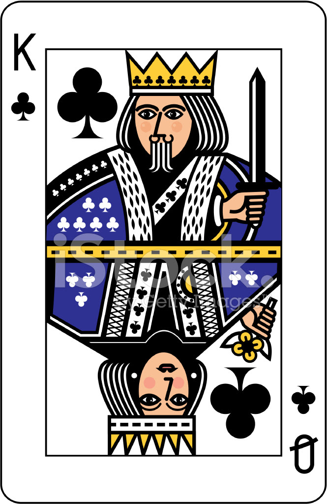 King and Queen of Clubs Playing Card stock photos - FreeImages.com