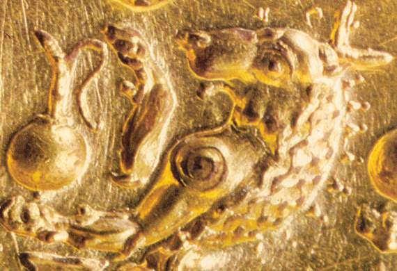 λεπτομέρεια από το δαχτυλίδι της Τίρυνθας