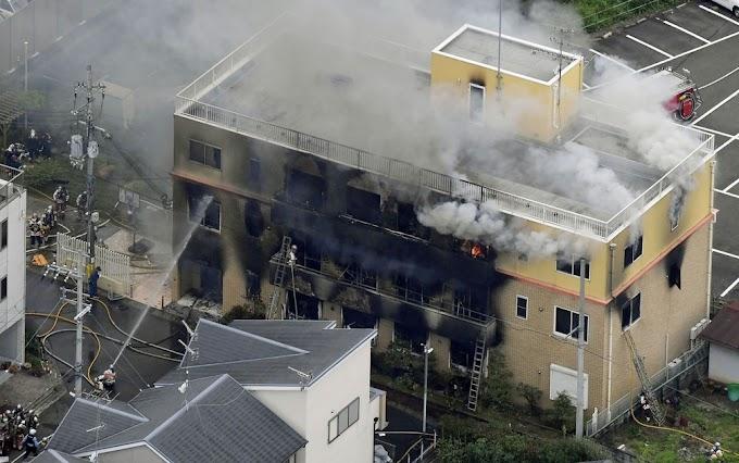 FORA DE CENA: Incêndio em estúdio de animação deixa 13 mortos e 30 feridos
