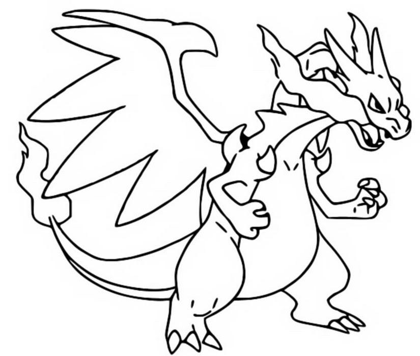 Coloring Pages Mega Evolved Pokémon Morning Kids