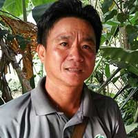 Marius Limat, chairman of the Kampung Buaian village security and development committee.