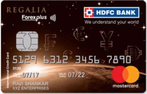 Hdfc bank forex card portal