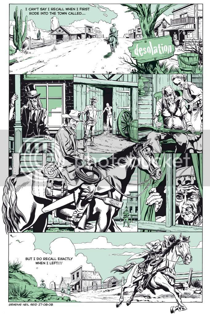 Comic,Wester,Illustration,Graeme Neil Reid