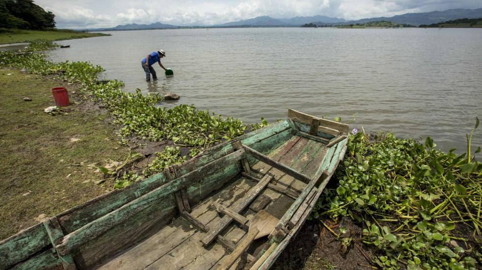 El lago Apanás, donde se desarrolla un proyecto para detener la sedimentación, en Jinoteca (Nicaragua).