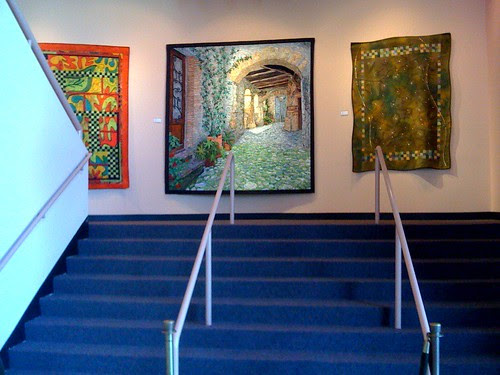 Three Quilts on the Landing