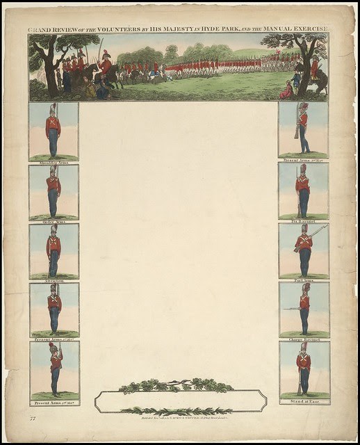 Grand review of the Volunteers by His Majesty in Hyde Park, and the manual exercise