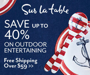 Sur La Table Up to 40% Off Outdoor Entertaining_300x250