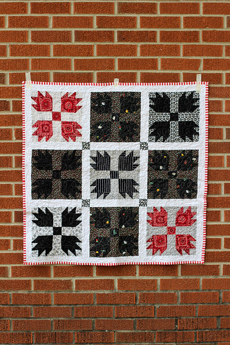 Red, White & Black Allover Quilt by Jeni Baker