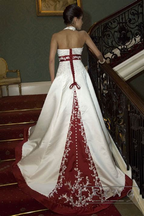 white and burgundy wedding dresses   Wedding at Hawaii
