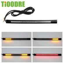 48-LED Motorcycle  Bar Strip Flexible Tail Brake Stop Turn Signal Lights