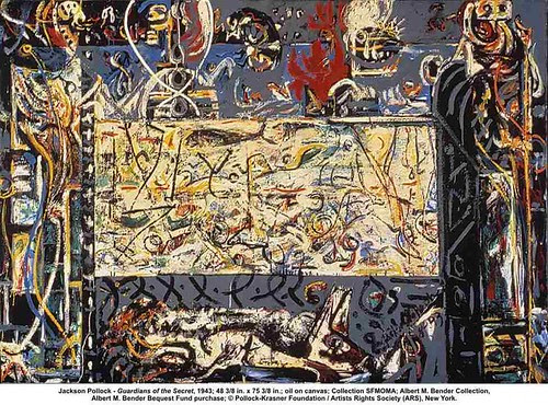 Jackson Pollock - Guardians of the Secret, 1943 by artimageslibrary