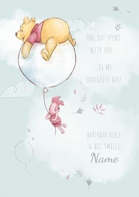 Pooh & Piglet Favourite Day Birthday Card   Funky Pigeon