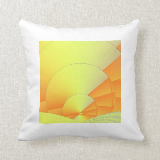 Digital Daylight Throw Pillow