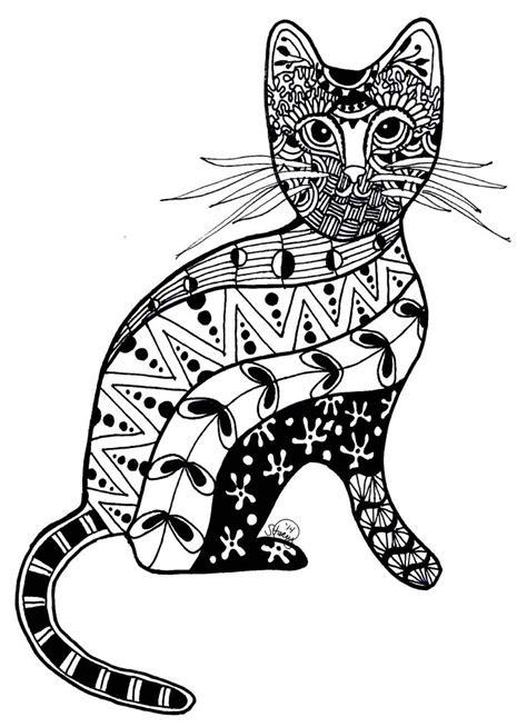 images  cat zentanglecoloring  pinterest
